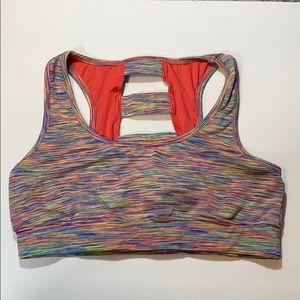 Multicolor sports bra size L